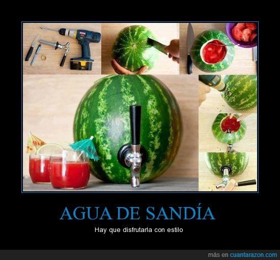 Agua,beber,disfrutar,estilo,sandía,verano