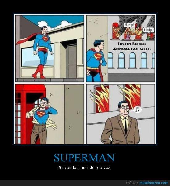 Incendio,Justin Beiber,Rescatar.,Salvar,Superman