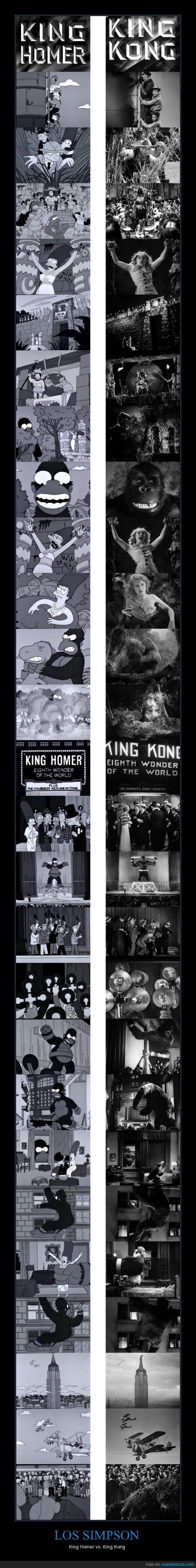 capitulo,homenaje,homer,king kong,pelicula