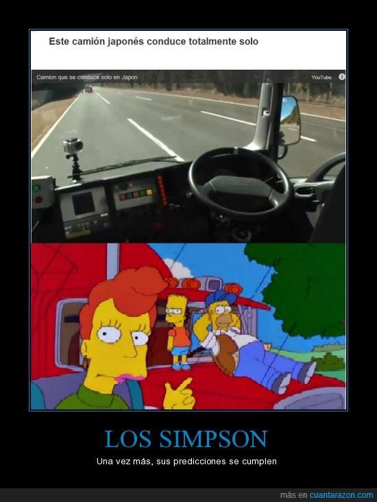 camion,conducir,los simpsons,prediccion,simpson,solo