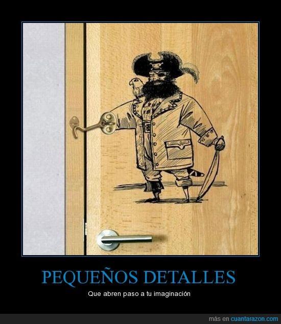 Creatividad,Detalles,Imaginación,Pirata,Puerta,Seguro