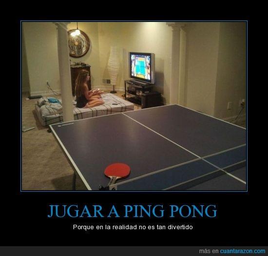 Consola,Juego,Mujeres,Ping Pong