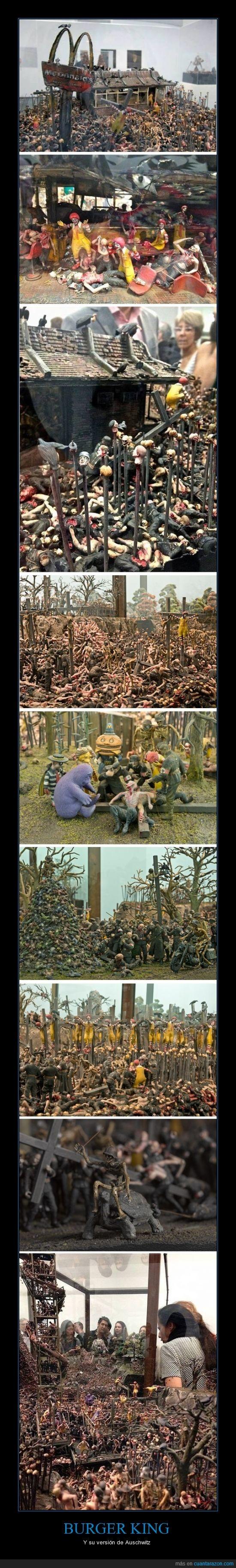 burger,campo,concentración,king,muñeco