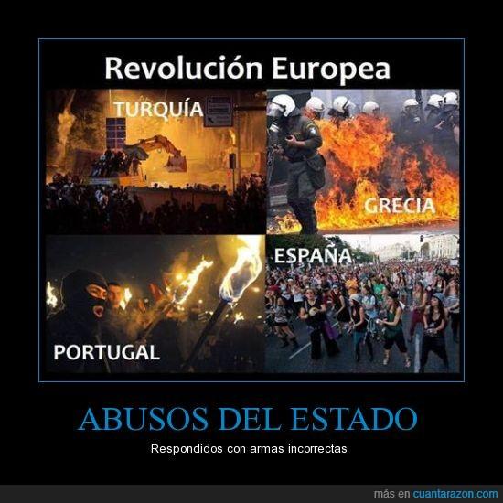 abusos del estado,antisistema,recortes,Revolución