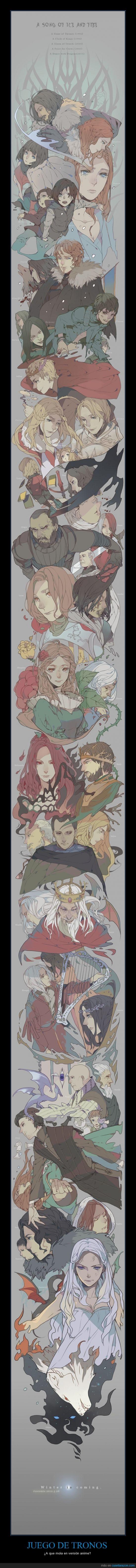 anime,eddard,invierno,japon,juego de tronos,r.r. martin,stark