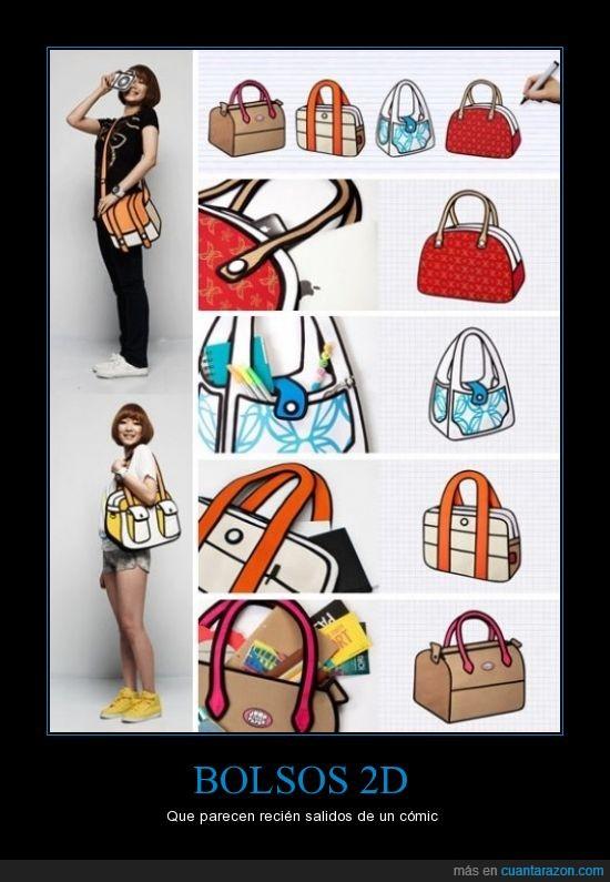 asiatica,bolsos,caricatura,original,¡son reales!