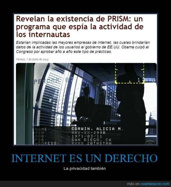 derecho,espiar,Estados unidos,internet,prism,privacidad