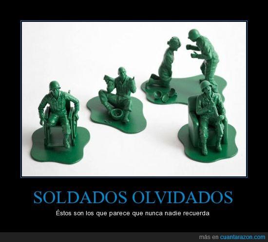 Discapacitados,Guerra,Juguetes,Olvido,Solidados