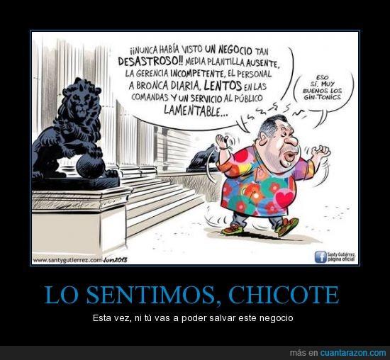 Alberto Chicote,Chef Chicote,congreso,crítica,gin-tonics,gobierno,viñeta