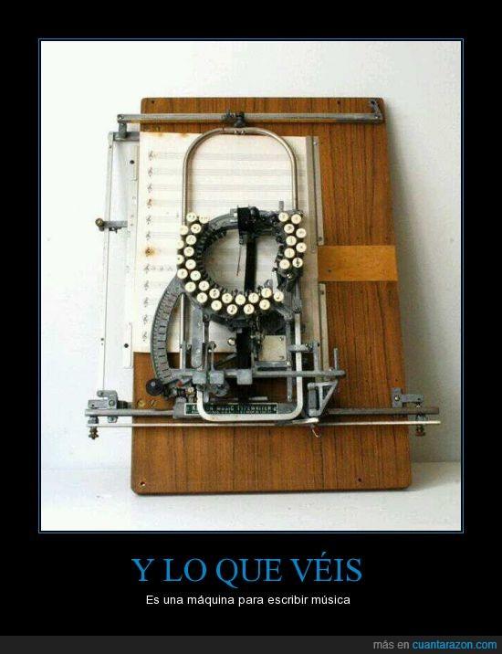 escribir,maquina,musica,nota,papel,partitura,pentagrama