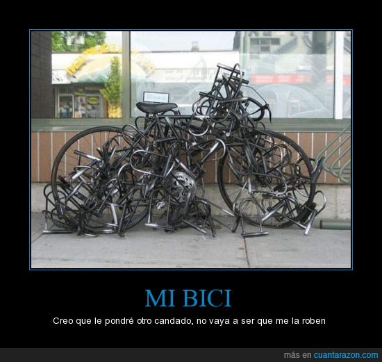 atreverse,bicicleta,candados,ladrones,robar