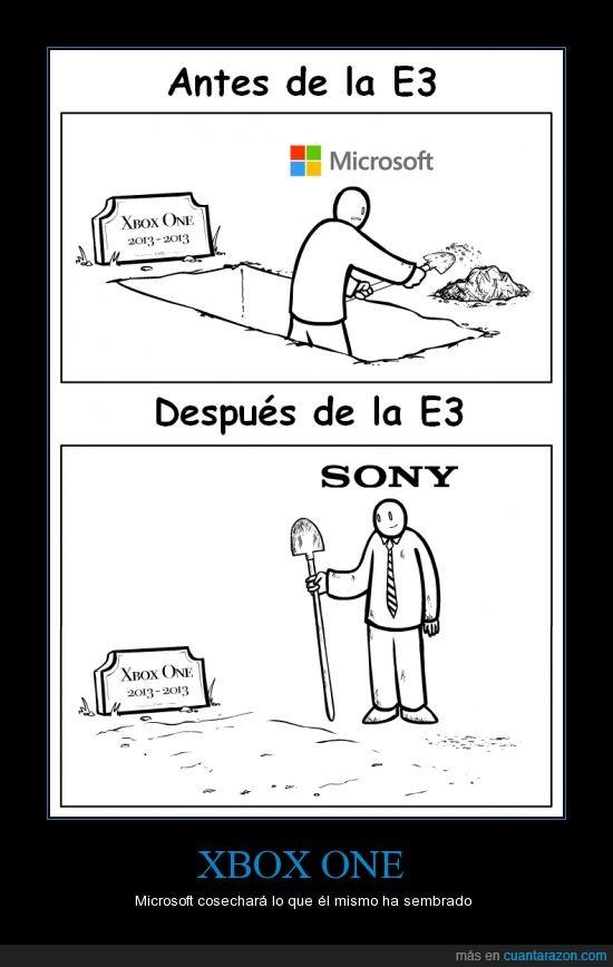 e3,enterrar,microsoft,ps4,sony,xbox one