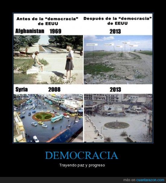 afghanistan,democracia,EUA,paz,progreso,syria
