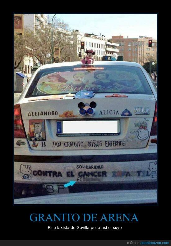 cancer,enfermos,gratis,niños,sevilla,solidaridad,taxi,taxista