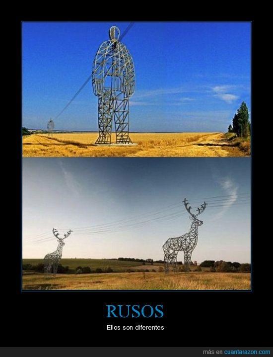 animal,cabñe,electricidad,escultura,figura,poste,reno,ruso,telefono