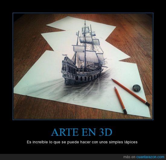 3d,arte,folios,increíble,lápiz,manual