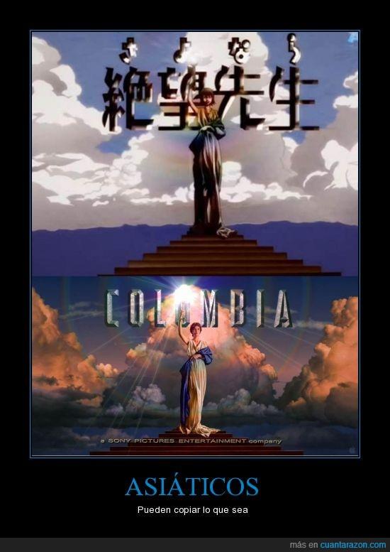 Chinos,Columbia,japoneses,Plagio,productora