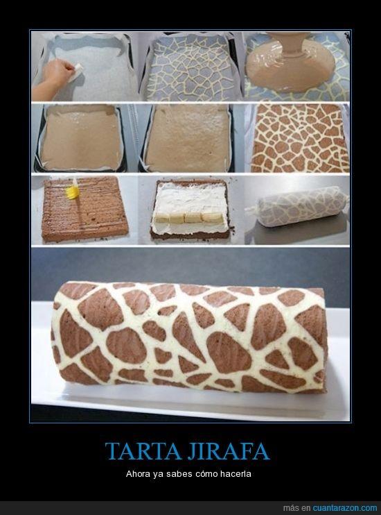 jirafa,mancha,pastel,swiss roll,tarta