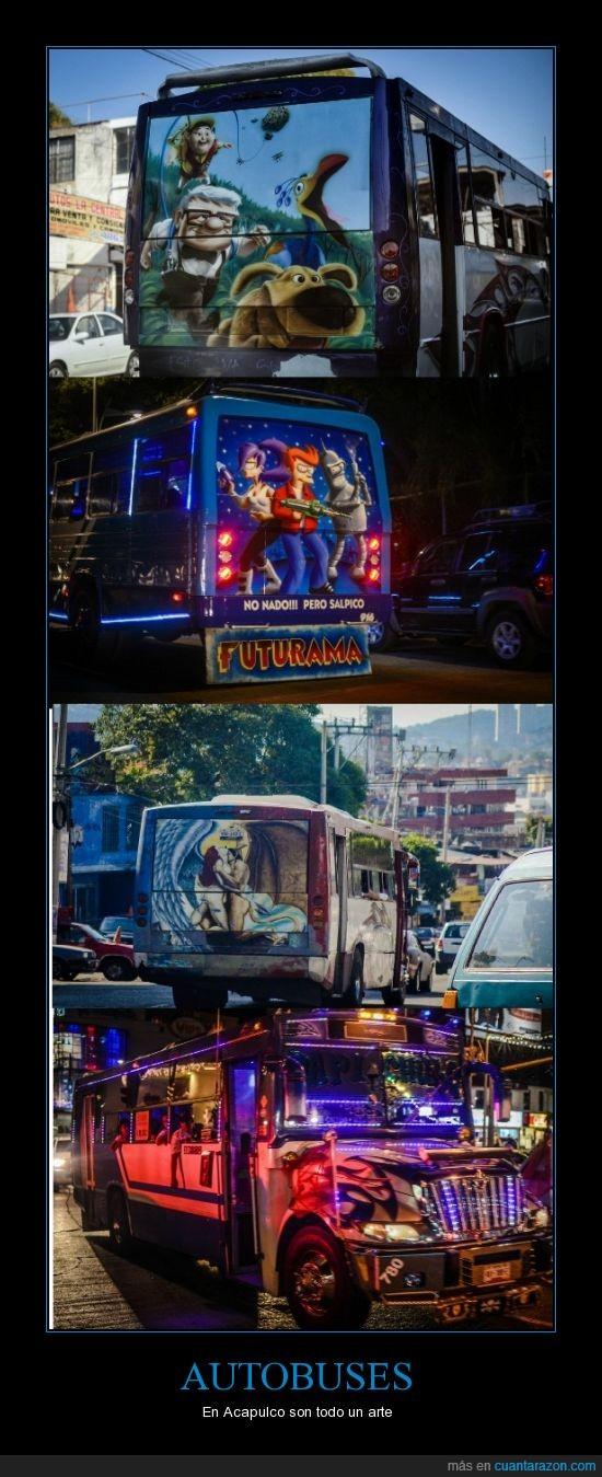 acapulco,arte,camiones,futurama,up