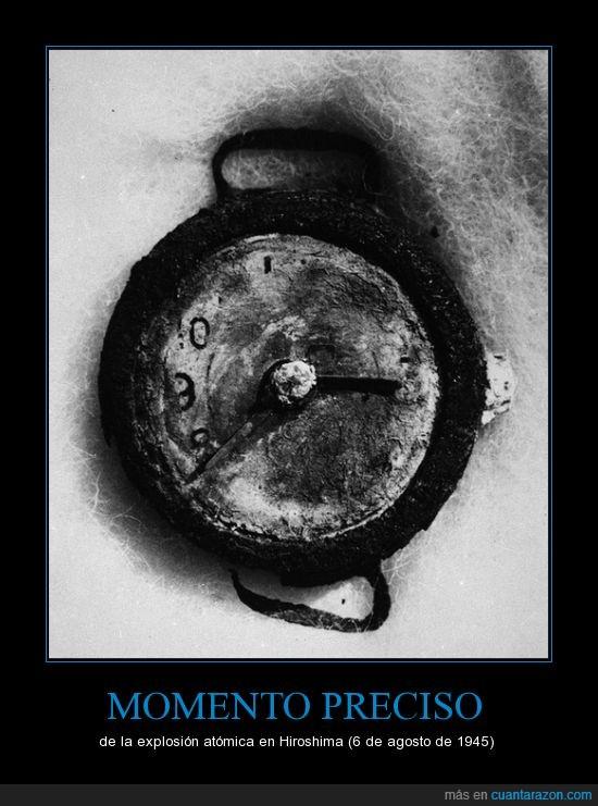 bomba,explosion,guerra,hiroshima,reloj
