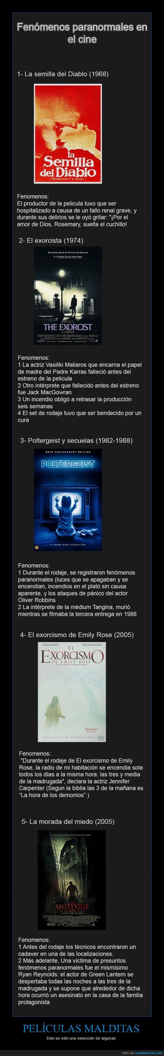 cine,fenomenos,hollywood,malditas,maldito,paranormales,peliculas,seleccion