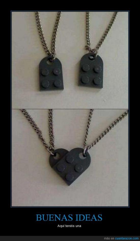 collar,corazón,Lego,pieza