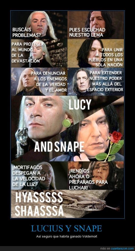 harry potter,lema,lucius malfoy,mortifago,pokemon,snape,team rocket