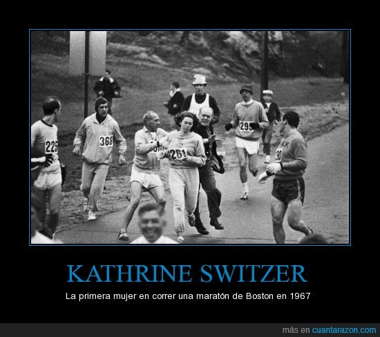 discriminacion,Kathrine Switzer,maraton,primera mujer