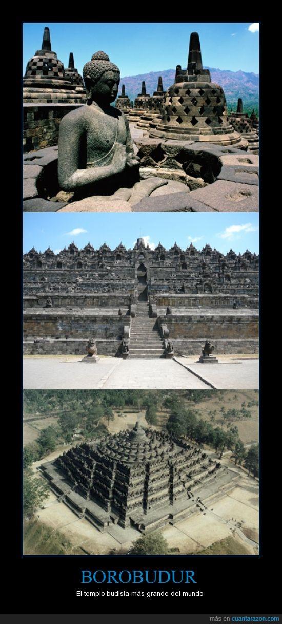 borobudur,buda,budista,isla de java,mas grande del mundo,templo