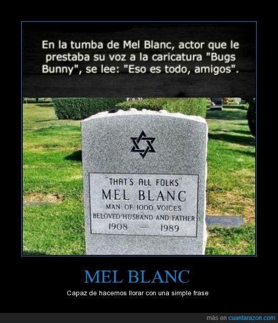 bugs bunny,eso es todo amigos,estrella de David,hebreo,MEL BLANC,tumba