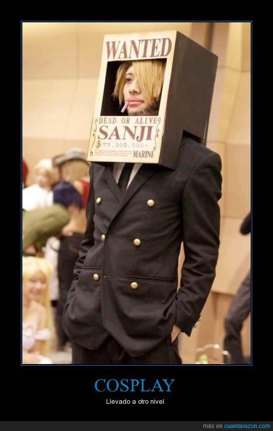 caja,cosplay,nunca aciertan,one piece,poster,sanji,se busca
