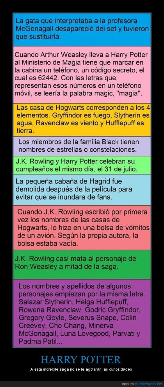 curiosidades,harry potter,hogwarts,J.K. Rowling,libros,películas
