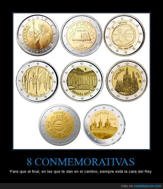 dos,euro,monedas,monumento,quijote