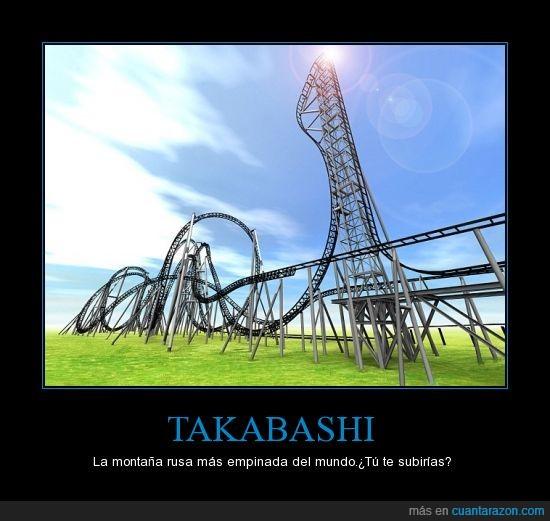 asia,empinada,japón,juegos mecánicos,miedo,montaña rusa,takabashi