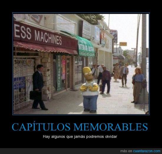 3D,calle,Casa arbol del terror,Homer,Los Simpson,realidad