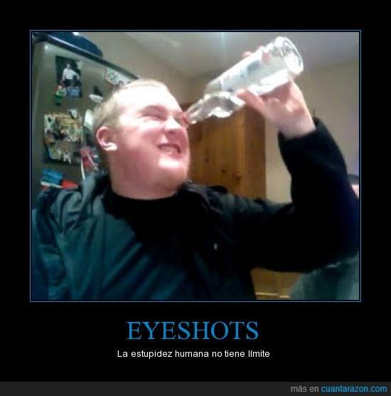 alcohol,beber,ceguera,estupidez,eyeballing,moda,ojos,rosadeguadalupe,televisa