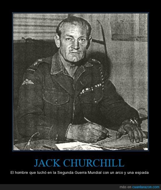 arco,espada,huevos,jack churchill,ojala apareciera en el COD,old school,soldado