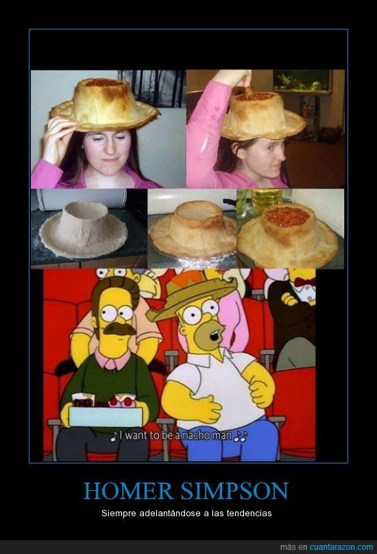 flanders,homer simpson,nacho man,sombrero nacho