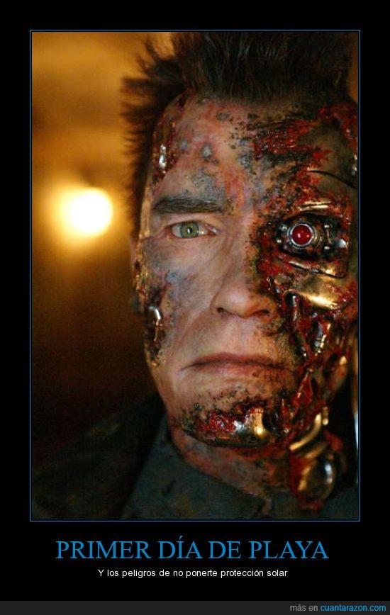 cara sin piel,quemadura,terminator