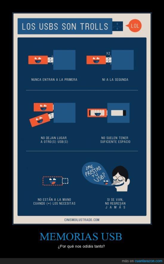 Desaparición,Espacio,Memoria USB,Pen Drive,Tamaño,Trolleandonos