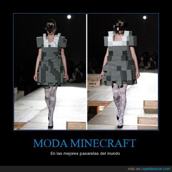 cuadrado,mejores,minecraft,moda,modelo,pasarela,pixel