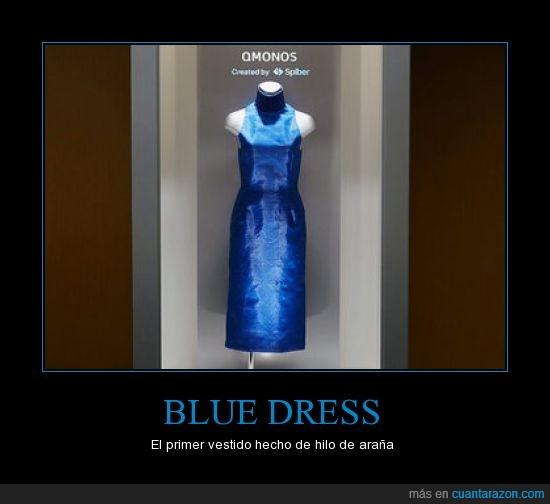 Araña,azul,hilo,Japón,telaraña,vestido