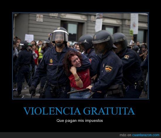 Antidisturbios,impuestos,rap,rayden,violencia