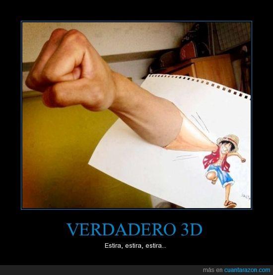 brazo,dibujo,luffy,one piece,puñetazo,real