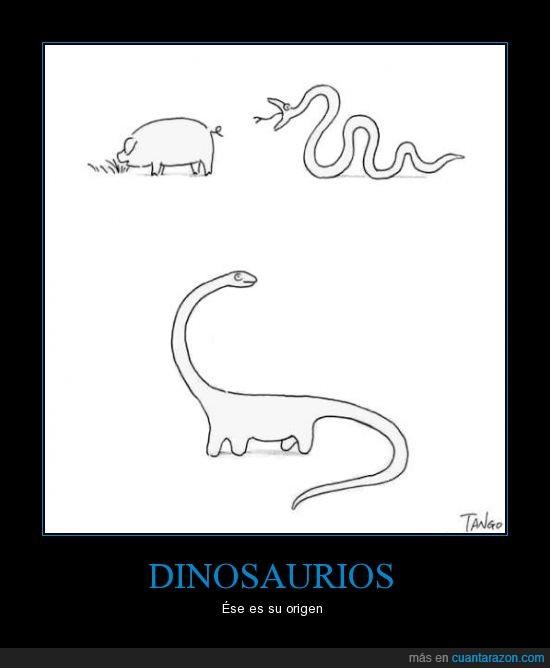 chiste,Dinosaurio,evolución,fusión,origen