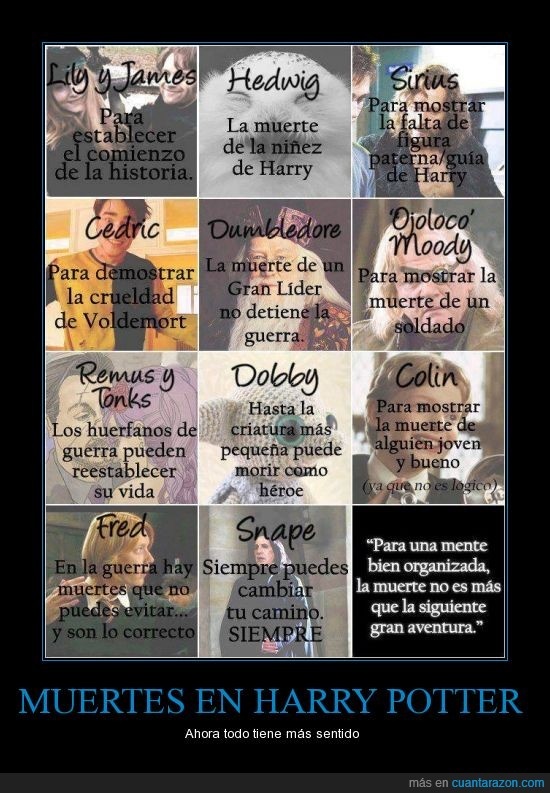 cedric,fred,george,harry potter,muertes,remus,voldemort