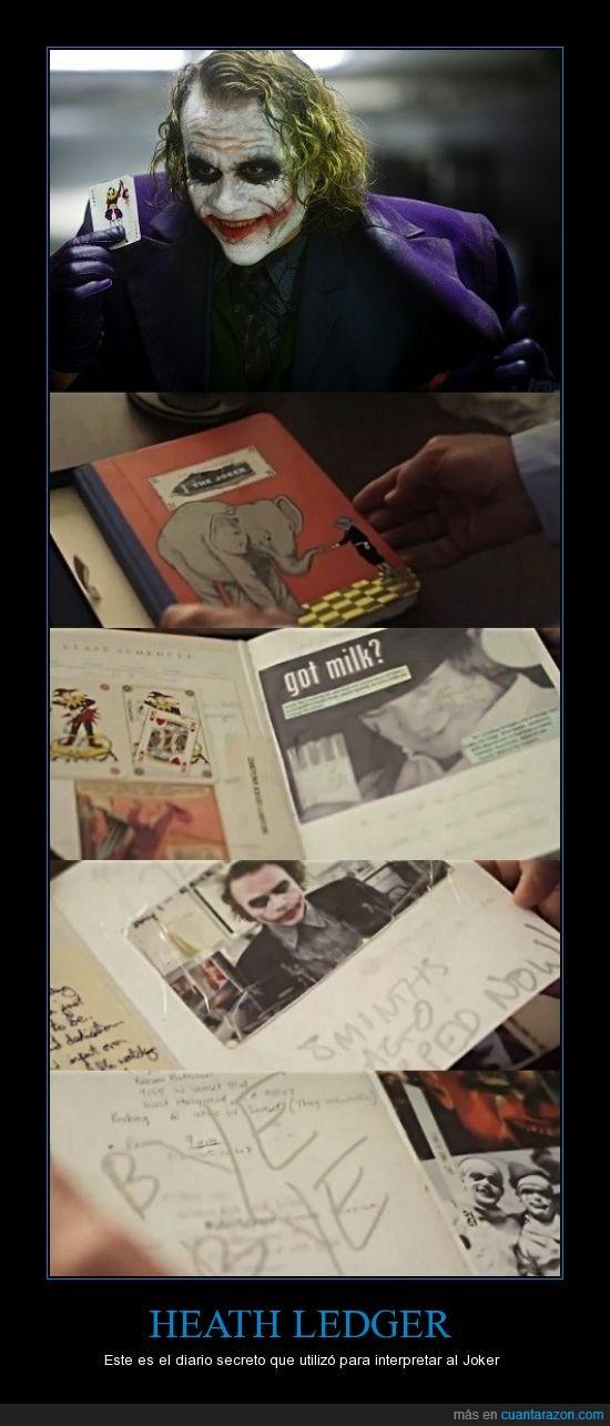 Batman,diario,Heath Ledger,Joker,secreto
