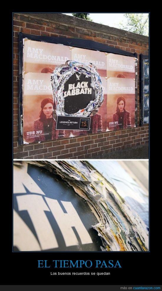 black sabbath,cartel,música,pared,recuerdos,tiempo