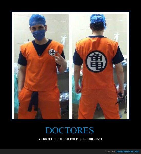 ball,bata,dbz,doctores,dragon,goku,operacion,quirófano,tortuga,traje,z