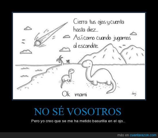 10,contar,Escondite,Fin de los Dinosaurios,madre,Meteorito,pequeño